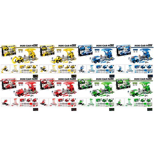 Конструктор LM9018-28-38-48-1-2  на шурупах, транспорт, 2шт, 12см, 4вида, в кор-ке, 37-24-11см