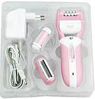 Женский эпилятор с насадкой пемза и бритва 3 в 1 Gemei — акумуляторный беспроводной эпилятор, женская бритва, фото 8