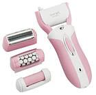 Женский эпилятор с насадкой пемза и бритва 3 в 1 Gemei — акумуляторный беспроводной эпилятор, женская бритва, фото 4