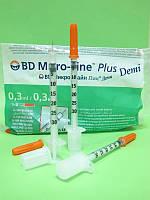 Шприцы инсулиновые детские BD MicroFine DEMI 0.3ml 10шт