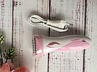 Женский эпилятор с насадкой пемза и бритва 3 в 1 Gemei — акумуляторный беспроводной эпилятор, женская бритва, фото 2