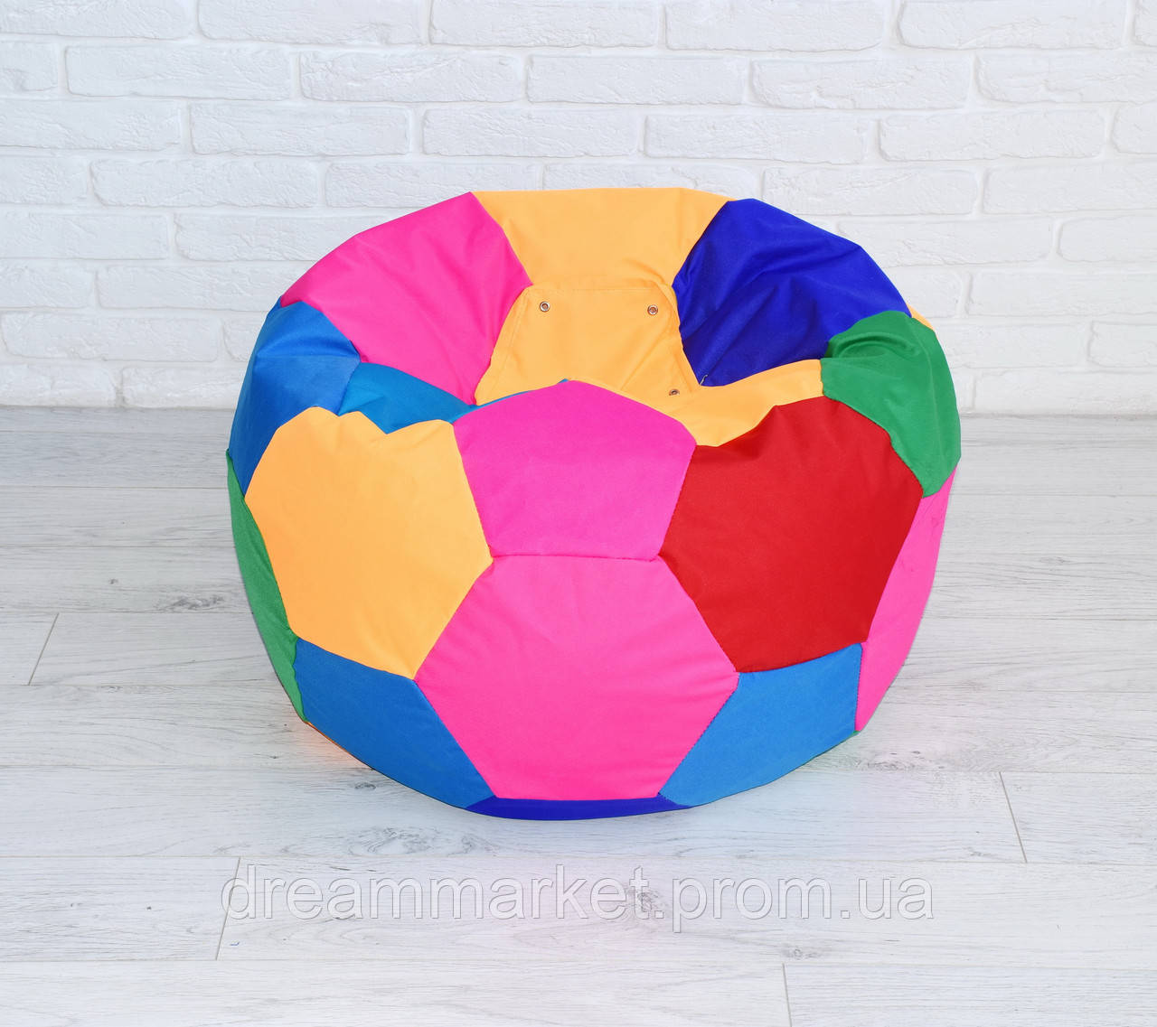 Мягкое Бескаркасное Кресло-мешок Мяч средний со съемным чехлом и ручкой для переноски, ткань Оксфорд, D=80 см