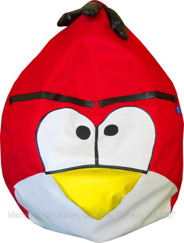Бескаркасное Кресло-мешок Angry Birds со съемным чехлом и ручкой для переноски, пенополистирол 90х60 см