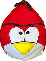 Бескаркасное Кресло-мешок Angry Birds со съемным чехлом и ручкой для переноски, пенополистирол 90х60 см, фото 1