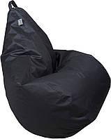 Бескаркасное Кресло-Груша со съемным чехлом из ткани Оксфорд 600D и ручкой для переноски, цвет черный 90х60 см