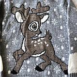 Теплый новогодний свитер на мальчика 2. Размер 4 года, 5 лет, фото 2
