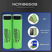 Аккумуляторная батарея NCR18650B, 3.7 v 3400 mAh, Оригинал (1 штука), фото 3