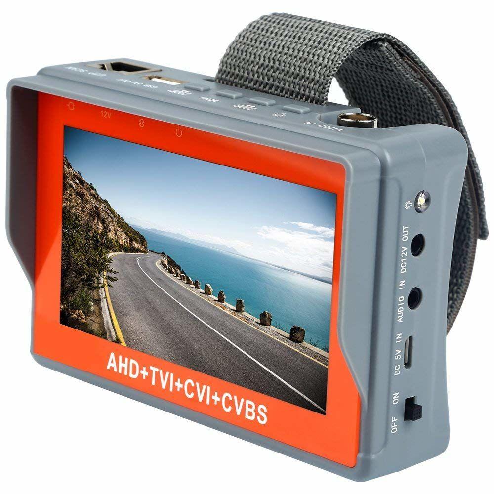 Портативный монитор для настройки камер видеонаблюдения Pomiacam IV7W, 5Мп, AHD+TVI+CVI+CVBS