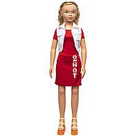 """Большая ходячая кукла """"Келли"""", 127 см, в красном платье и со светлыми волосами (sum950102)"""