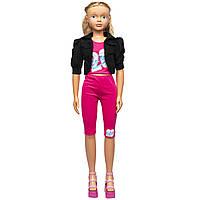 """Большая ходячая кукла """"Келли"""", 127 см, в розовом костюме и со светлыми волосами (sum950119)"""