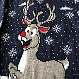 Теплый новогодний свитер на мальчика 4. Размер 2 года, 3 года, 4 года, 5 лет, 6 лет, фото 2