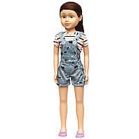 Большая кукла 80 см, Sum Sum, в комбинезоне, темные волосы (sum950126)