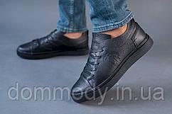 Кеды мужские кожаные черного цвета Smash
