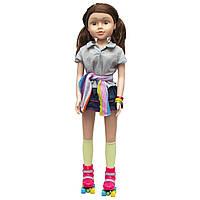 Большая кукла на роликах, 80 см, Sum Sum, в футболке и юбке (sum950164)