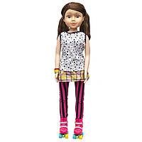 Большая кукла на роликах, 80 см, Sum Sum, в футболке и штанах, темные волосы (sum950171)