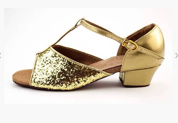 Туфли для бальных танцев золото Rivage Line 600105, фото 2