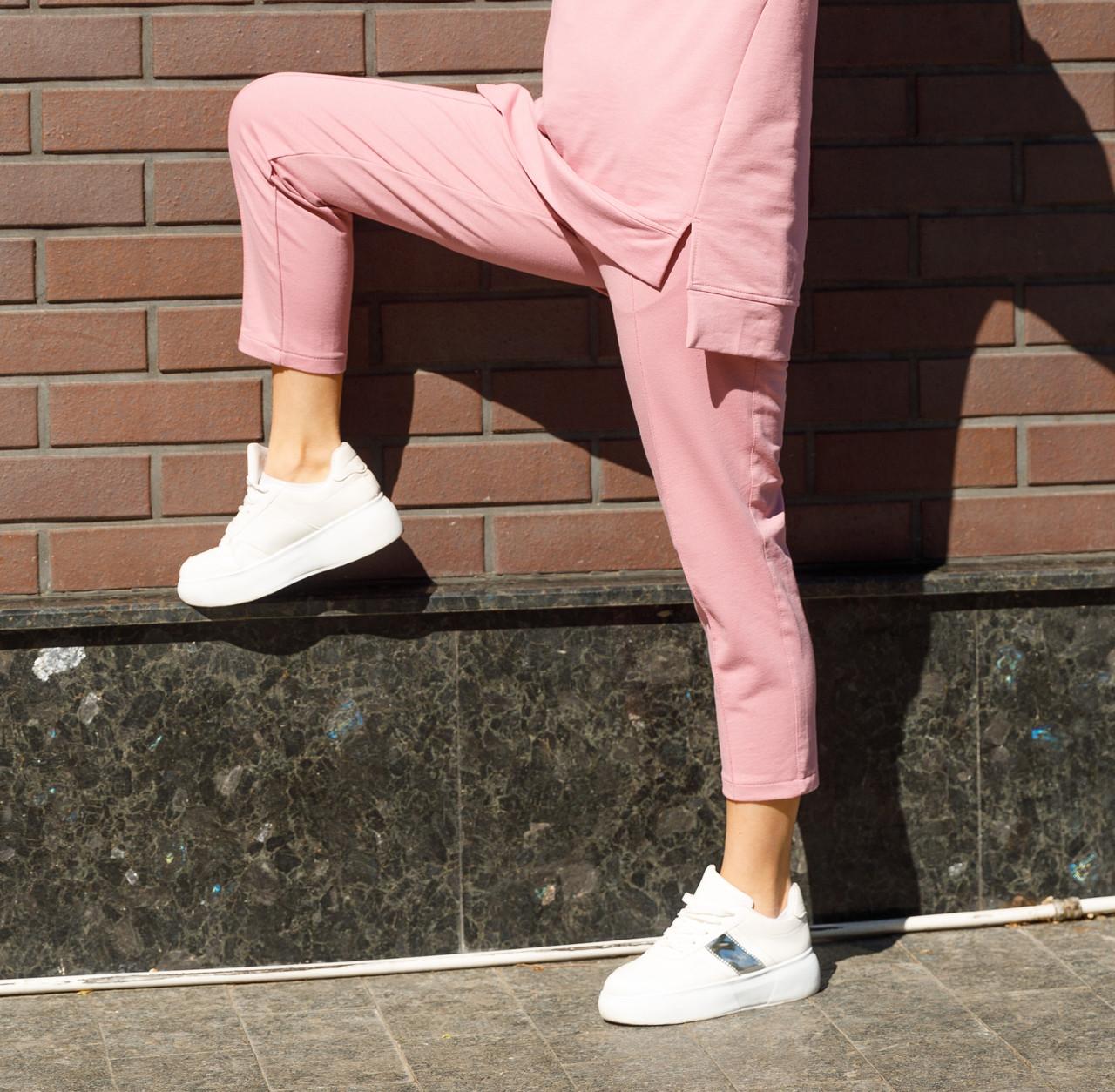 Спортивні жіночі штани рожевого кольору Джейд від бренду Тур S, M, L Чорний, L