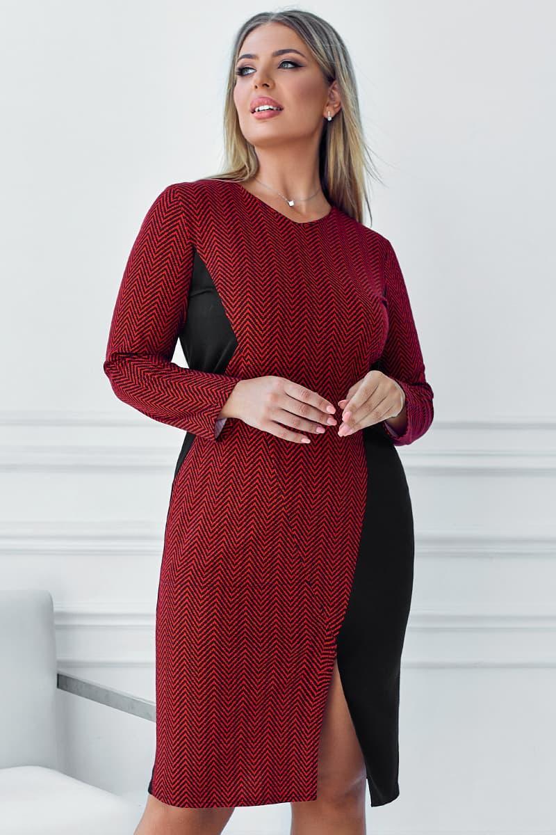 Комбіноване плаття з розрізом Остін червоне
