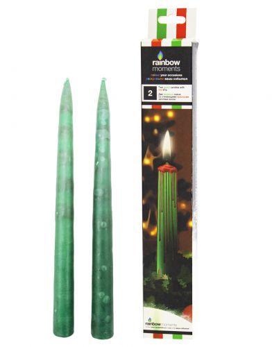 Свечи со стекающими разноцветными каплями, 26 см DRIP-02