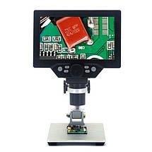"""Микроскоп цифровой с 7"""" дюймовым LCD экраном и подсветкой GAOSUO G1200HD, c увеличением до 1200X, питание от, фото 2"""