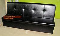 Диван Престиж с ящиком черный 1800х550х900мм, фото 1