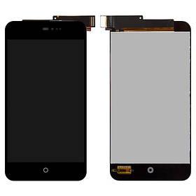 Дисплей (экран) для Meizu MX2 (M040) с сенсором (тачскрином) черный Оригинал
