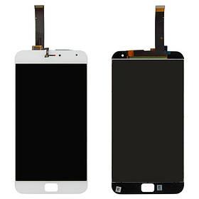 Дисплей (экран) для Meizu MX4 Pro (M462U) 5.5 с сенсором (тачскрином) белый Оригинал