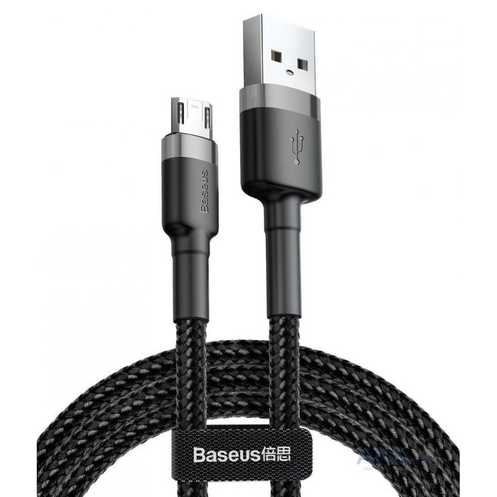 Кабель Micro USB 0.5 m Baseus Cafule (CAMKLF-AG1) чорно-сірий (блістер)