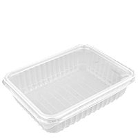 Комплект контейнер прямоугол,прозрачный ПП 179-500П,179*132*37,500мл;уп/50шт, фото 1