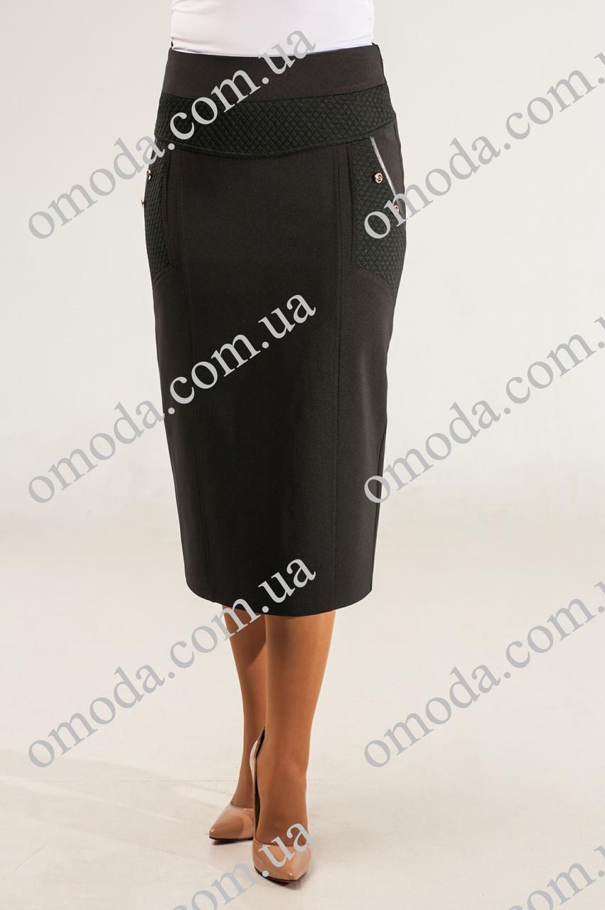 Женская класическая  юбка Люси черного цвета