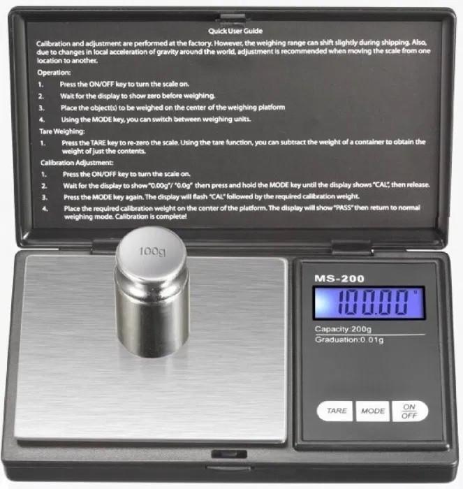 Високоточні ювелірні ваги MS 2020 200g/0.01 g електронні ваги