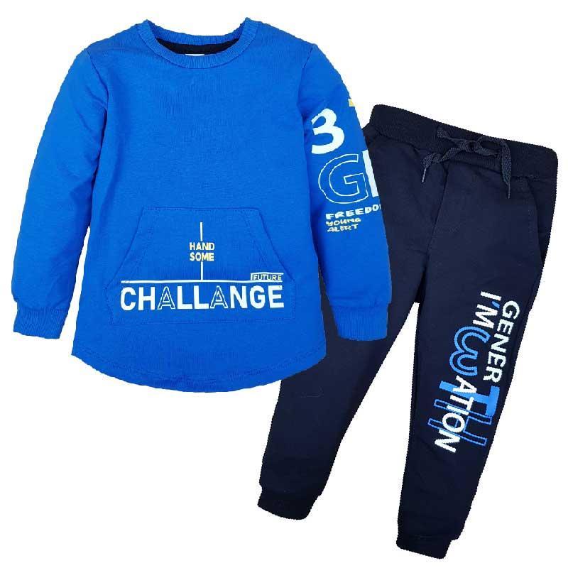 "Костюм для мальчика ""Challenge"" 98-116 (3- 6 лет) 597, кофта+ штаны"