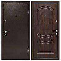 Дверь входная Министерство Дверей мет/мдф ПУ-01 Орех коньячный 1900х960мм правая