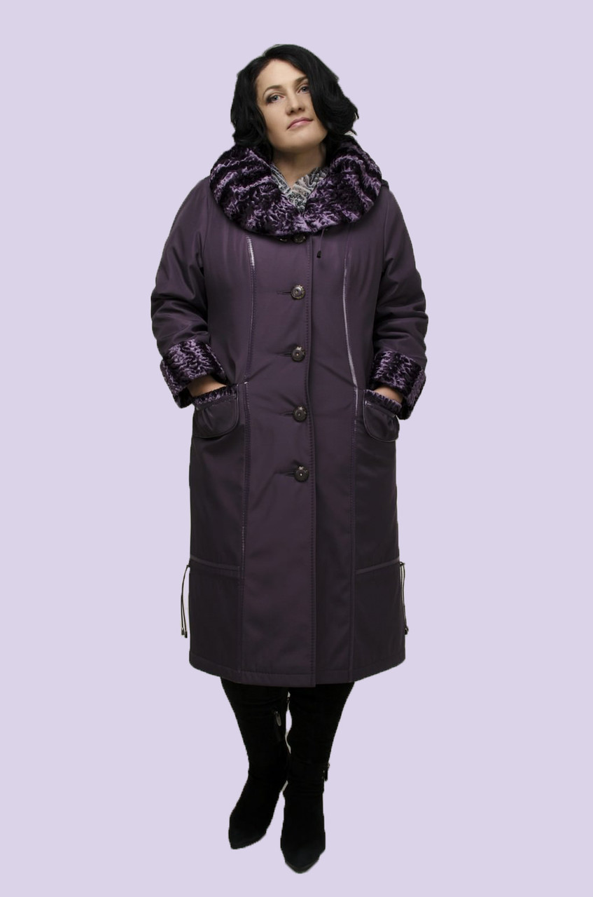 Пальто женское зимнее больших размеров, фото 1