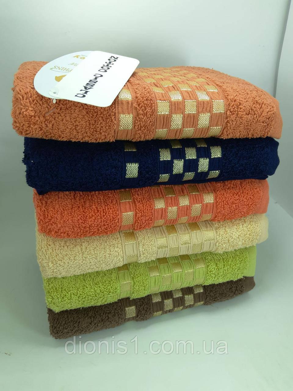 Банное полотенце махра Турция размер 70*140 махра 6 шт в уп.