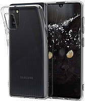 Чехол силиконовый на Samsung Galaxy A41 A415 ультратонкий прозрачный (самсунг галакси а41)