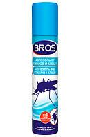 Аэрозоль от комаров и клещей Bros 90мл.
