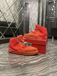 Чоловічі кросівки Nike Yeezy 2 Red (червоні)