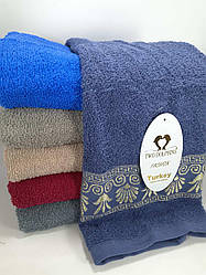 Полотенце банное махра 6 шт в уп. размер 70*140 Турция
