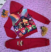 Стильный детский красный костюм на рост 110-128