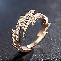 Женское кольцо с кристаллом. Кольцо из медицинского сплава. FS1722-65