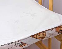 Непромокаемый наматрасник в детскую кроватку 70х140 хлопок 100%