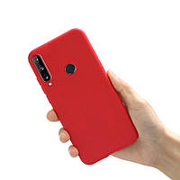 Чехол силиконовый для Huawei P40 Lite E красный (хуавей п40 лайт е)