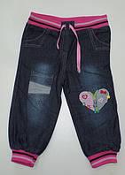 Джинсы для девочек на ФЛИСЕ 2,3,4,5 лет.