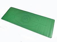 Коврик для йоги PU 183 х 68 х 0,4 см с разметкой, фото 1