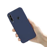 Чехол силиконовый для Huawei P40 Lite E синий (хуавей п40 лайт е)