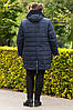 Женская зимняя теплая куртка большого размера, фото 5