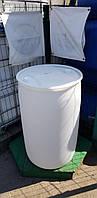 0212-08/1: С доставкой в Хмельницкий ✦ Бочка (200 л.) б/у пластиковая, фото 1