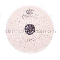 Круг муслиновый CROWN 150 мм 6х12 белый (кож пятак)