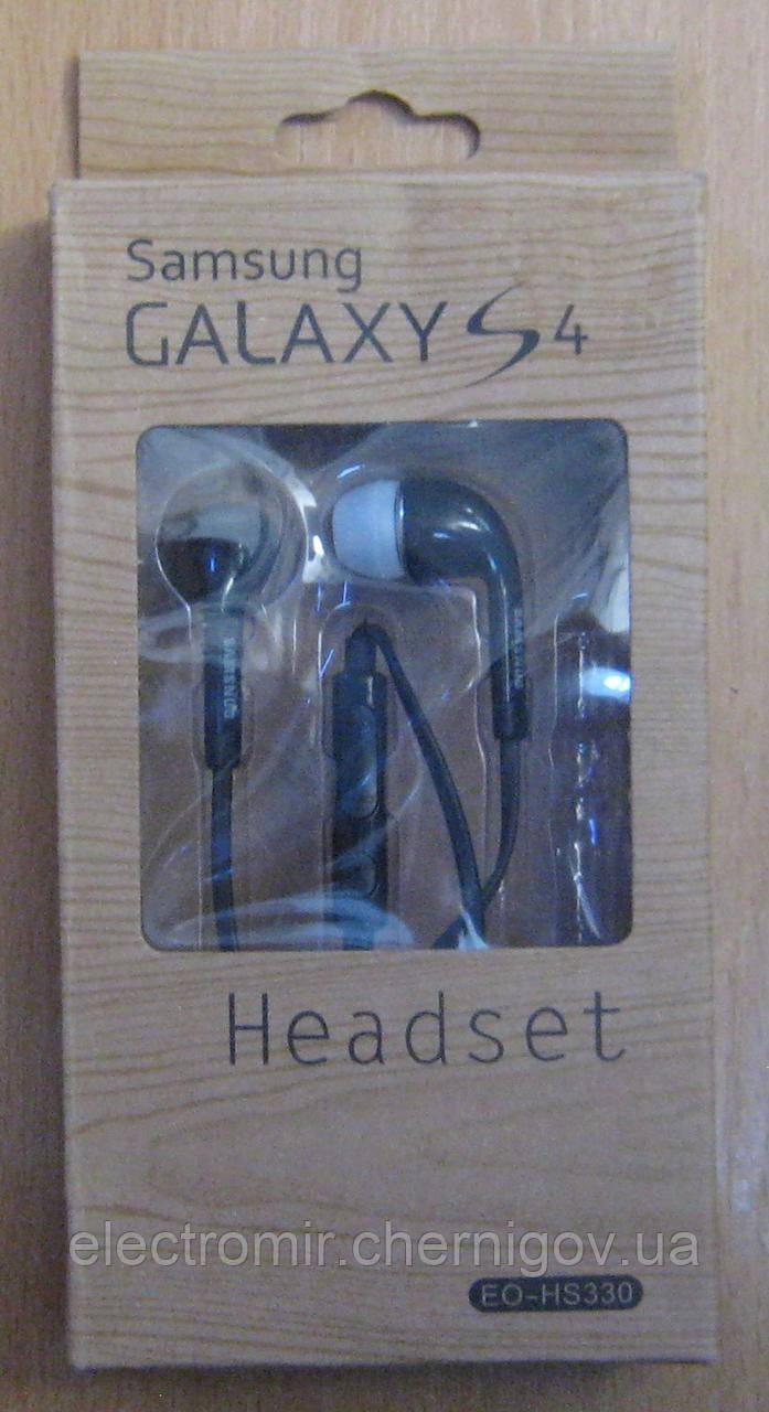 Наушники вакуумные с микрофоном Samsung Galaxy S4 EQ-HS330 (чёрные)